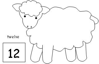 Cotton ball sheep craft template pictures to pin on for Lamb template to print