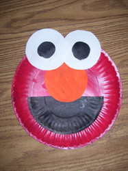 Elmo Paper Plate Project For